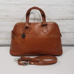 Dooney & Bourke Alta Leather Satchel Tan